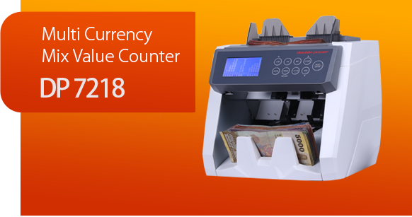 Multi Currency Mix Value Counter - DP 7218 - Cash Counting Machines and Banknote Machines Suppliers in Sri Lanka